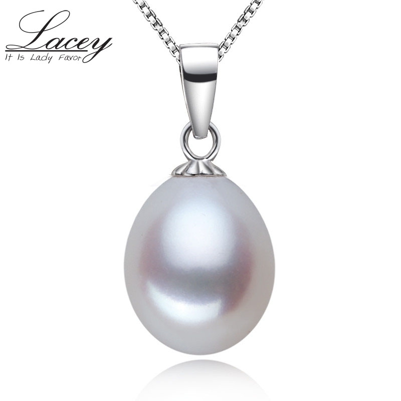 Lacey 925 sterling silver pearl pendant real natural necklace daughter romantic birthday git white