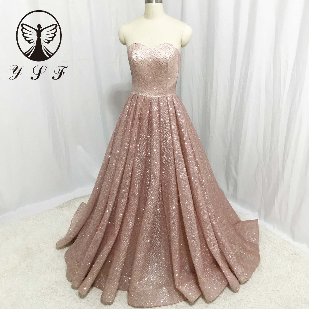 Us 1649 2018 Rose Gold Prom Dresses Off The Shoulder Sweetheart Sleeveless Pleated Long Sexy Vestidos De Formature In Prom Dresses From Weddings