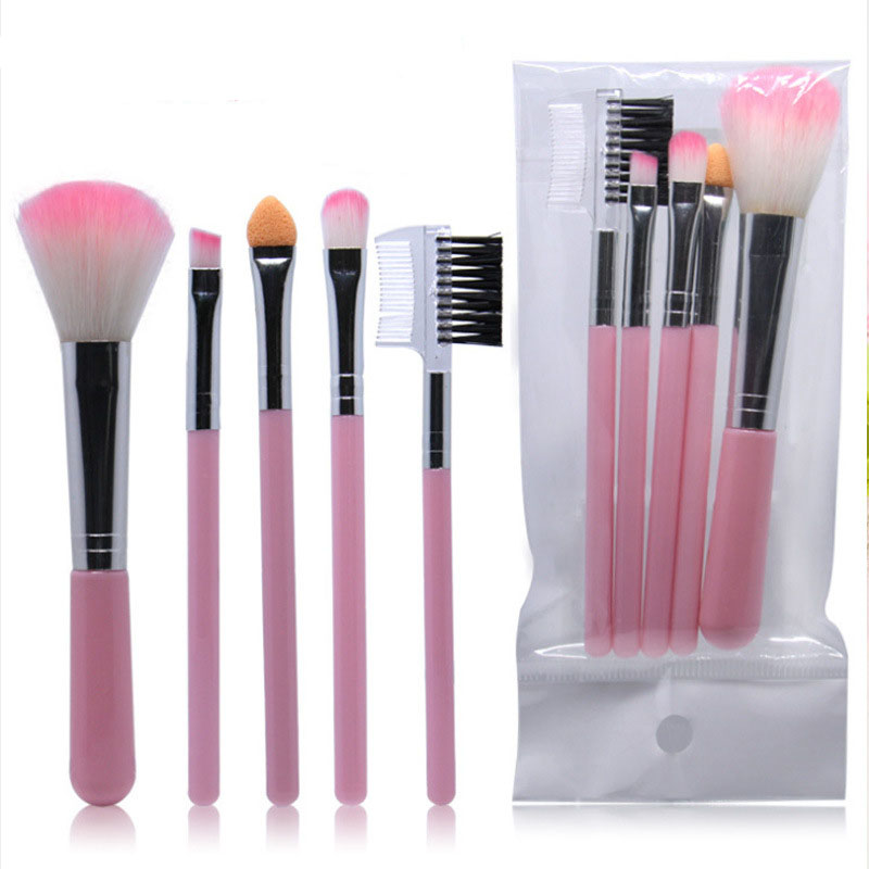 5Pcs/Lot Eye Shadow Foundation Eyebrow Eyeliner Eyelash Lip Brush Makeup Brushes Cosmetic Tool Make Up Eye Brush Set