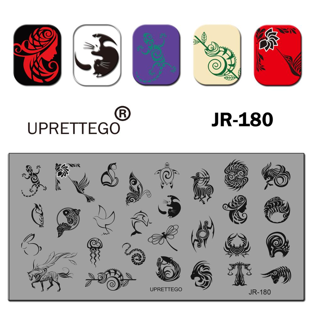 Image 2 - 2019 Stainless Steel Stamping Plate Template English Phrase Geometry Lady Vintage Floral Linear Animal Nail Tool JR171 180-in Nail Art Templates from Beauty & Health