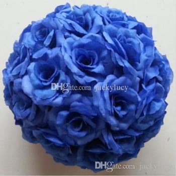 """12"""" Dark Purple Wedding Theme Artificial Roses Flowers Balls Hanging Kissing Ball For Wedding Party Decoration Supplies"""