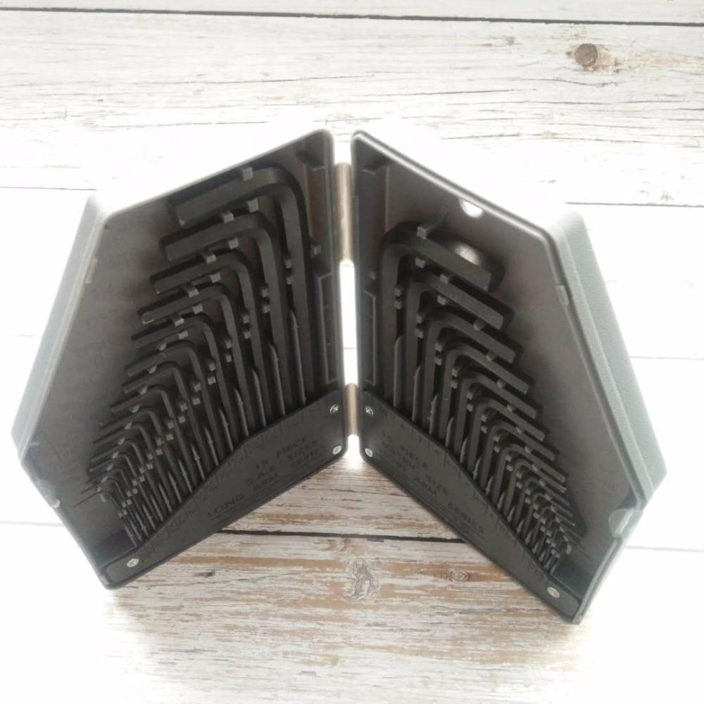 30PCS Hex allen key set hexagon Wrench hex key wrench metric inch allen keys Bronze S2 Alloy Steel L Type цена