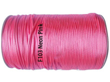 2mm Neon Pink Nylon Cord Jewelry Findings Accessories Rattail Stain Macrame Rope Shamballa Bracelet Beading Cords 350m/roll