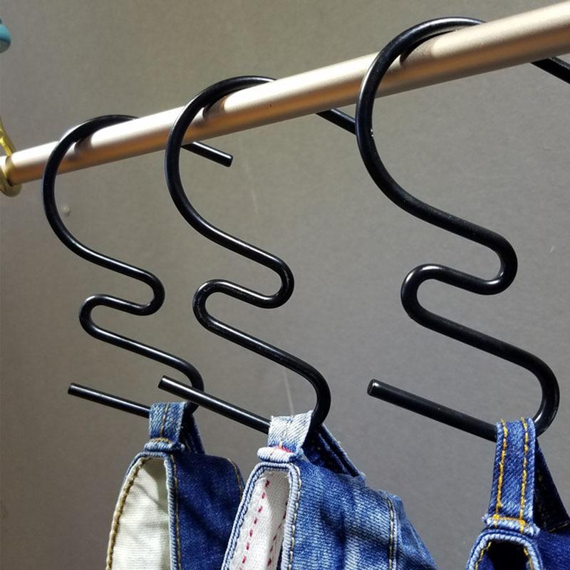 Perchas De Metal Con Forma De S Para Vaqueros 50 Unidades Ganchos Para Pantalones Bolsos Para Cinturon Y Bufanda Perchas Y Percheros Aliexpress
