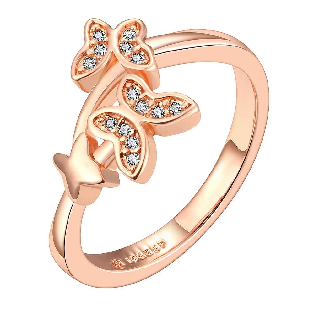 2017 acessorios para mulher rose gold color rings for women Double ...