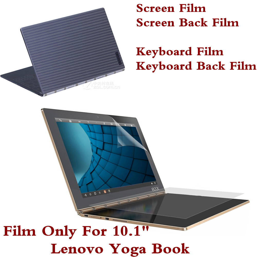 Intero film protettivo per Lenovo Yoga Book 10.1 pollici Tablet PC Screen Film Cover per tastiera Film posteriore
