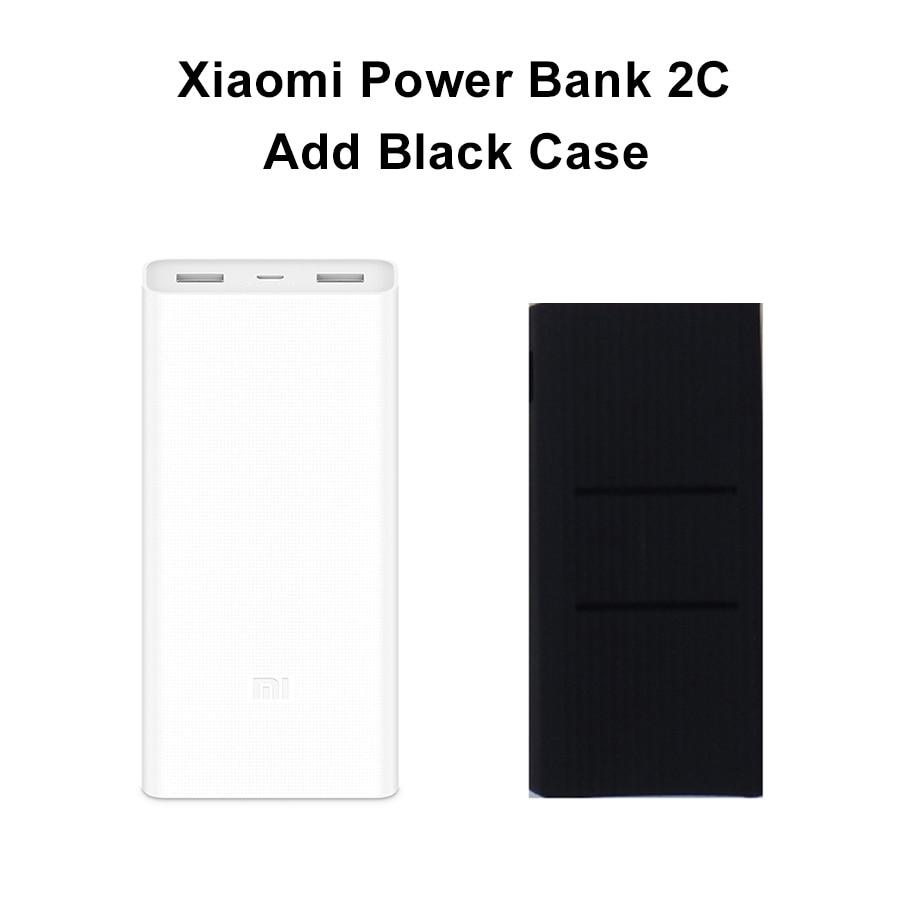 original xiaomi power bank 20000mah 2c portable charger support qc3 0 dual usb mi external