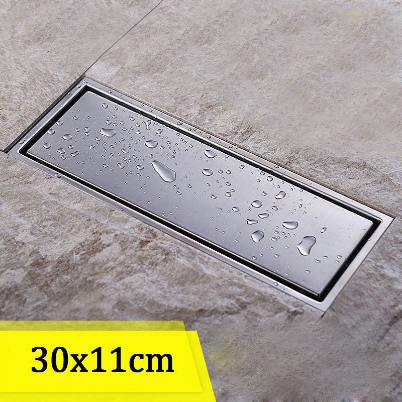 Stainless Steel Rectangular Floor Drain Washing Machine Chrome Dedicated Outdoor Pool Drain a1 all copper deodorant stainless steel floor drain screen washing machine floor drain lu52511