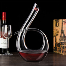 Hohe Qualität Kristall Glas 6 Form Weinausgießer Weinkaraffe Rotwein Karaffe Belüfter 1200 ml