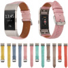 Soft Genuine Leather Replacement Wrist Strap For Fitbit Charge 2 Smart Watch Band Macaron Color Wristbands