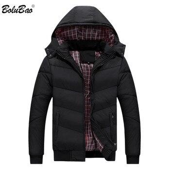 BOLUBAO Men`s Cotton Parka Coat 2019 Winter Casual Street Style Jacket Men Outwear Windbreak Male Hooded Bomber Jackets