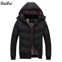 BOLUBAO Mens Cotton Parka Coat Winter Men Casual Street Style Fashion Jacket Outwear Male Hooded Bomber Parkas Jackets