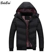 BOLUBAO мужская хлопковая парка, зимняя мужская повседневная Уличная стильная модная куртка, верхняя одежда, мужская куртка бомбер с капюшоном, куртки