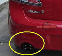 CHROME EXHAUST MUFFLER TIP PIPE For Mazda3 M3 2004 2013