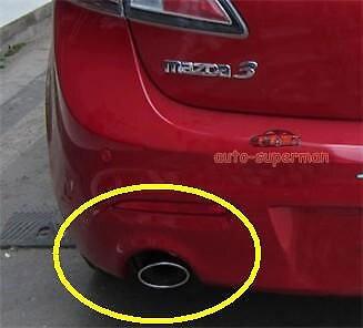 ESCAPE CROMADO SILENCIADOR TUBO DICA Para Mazda3 M3 2004-2013