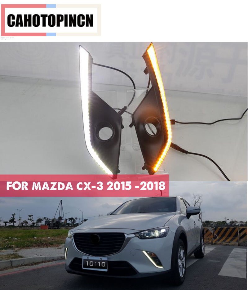 LED Daytime Running Light For Mazda CX 3 CX3 2015 2016 2017 2018 Car Accessories Waterproof