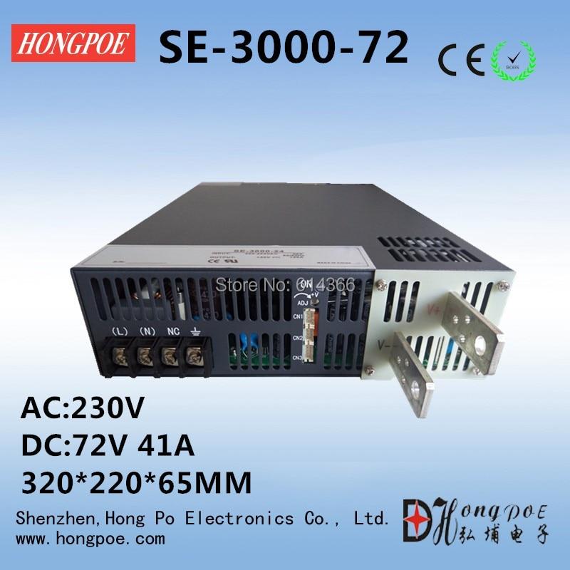 3000W 72V41A DC 0-72v power supply 72V 41A AC-DC High-Power PSU 0-5V analog signal control SE-3000-72 DC72V free shipping 1200w 0 72v power supply s 1200 72 0 5v analog signal control 72v power supply 72v 16 5a