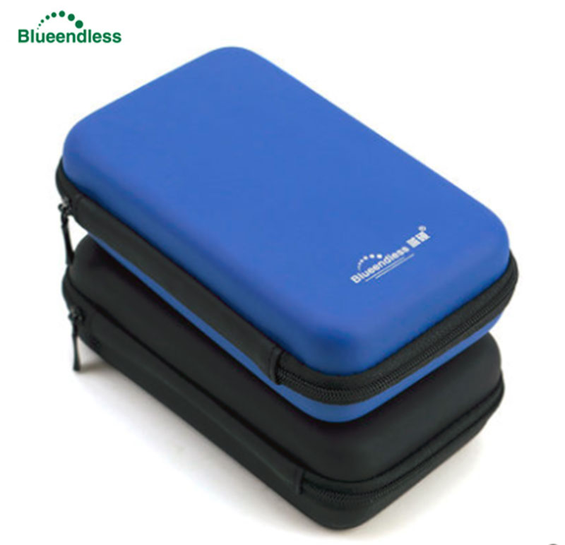 Blueendless 2.5 Portable Hard Drive Disk Bag Case EVA External HDD Bag Zipper USB Power Bank Carry Case Cover