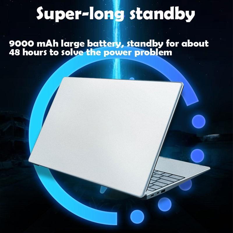 15.6'' Gaming Laptop With Backlit keyboard 8GB RAM 1TB 512G 256G 128G SSD ROM Notebook Computer Win10 Pro Intel J3455 Ultrabook