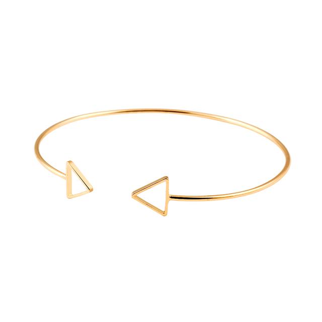Trendy Geometric Double Triangle Classic Bracelet