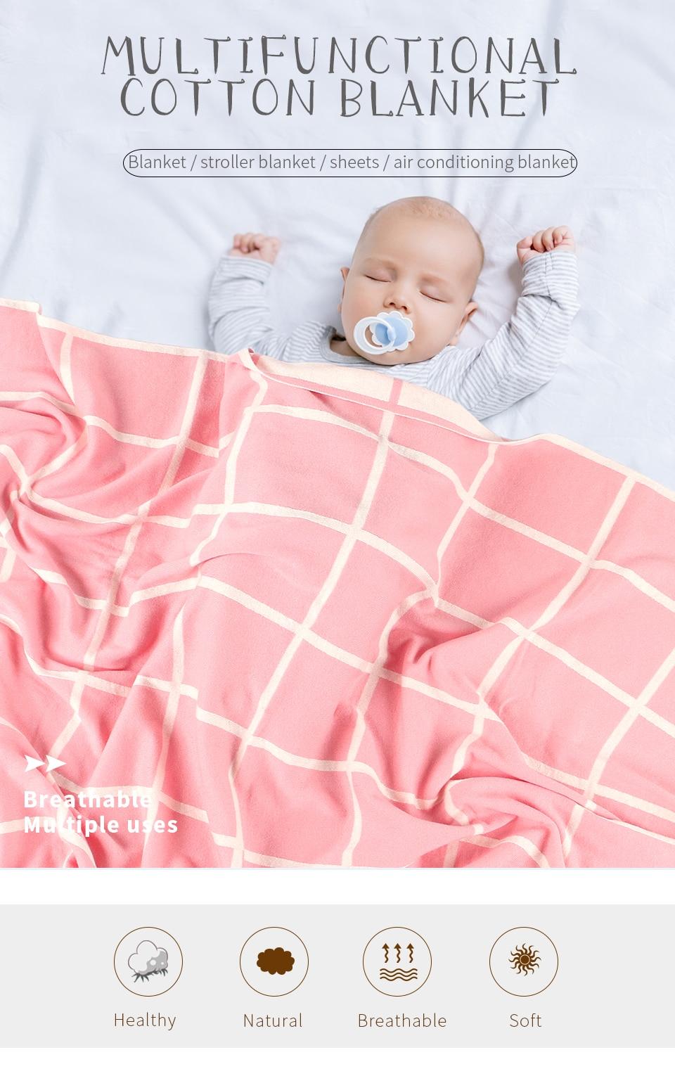 Cobertores do bebê macio malha recém-nascido swaddle