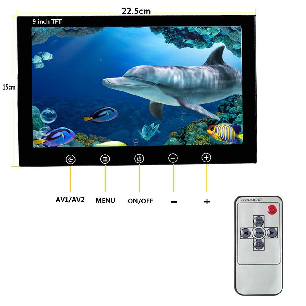 PDDHKK 9 Zoll Wifi Drahtlose 50M Fisch Finder Unterwasser 1000TVL Angeln Kamera Video Record & Nehmen Bild durch Telefon APP Nachtsicht