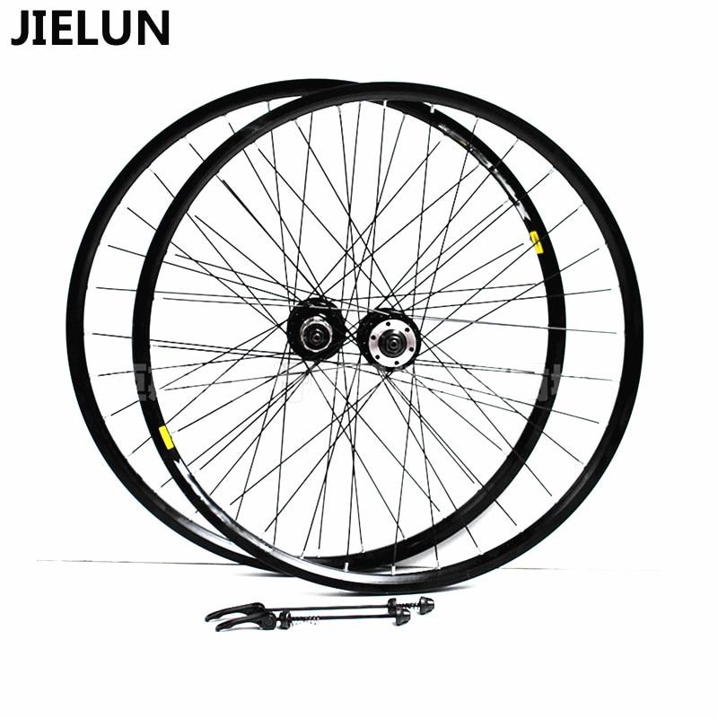 JIELUN MTB Bike 26 Inch Spoke Wheel Set  2 Bearing Disc Brake Hub Double Aluminum Alloy Rim