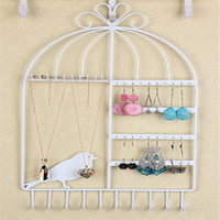 Top Quality 43 26cm Vintage Black Earrings Necklace Jewelry Display Showcase Racks Holder Stand 40 Holes