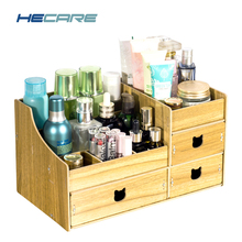 HECARE Folding Wooden Drawers Storage Box Jewelry Container Handmade DIY Assembly Cosmetic Organizer Makeup Organizer Box Case new arrive hot 2pc set portable jewelry box make up organizer travel makeup cosmetic organizer container suitcase cosmetic case