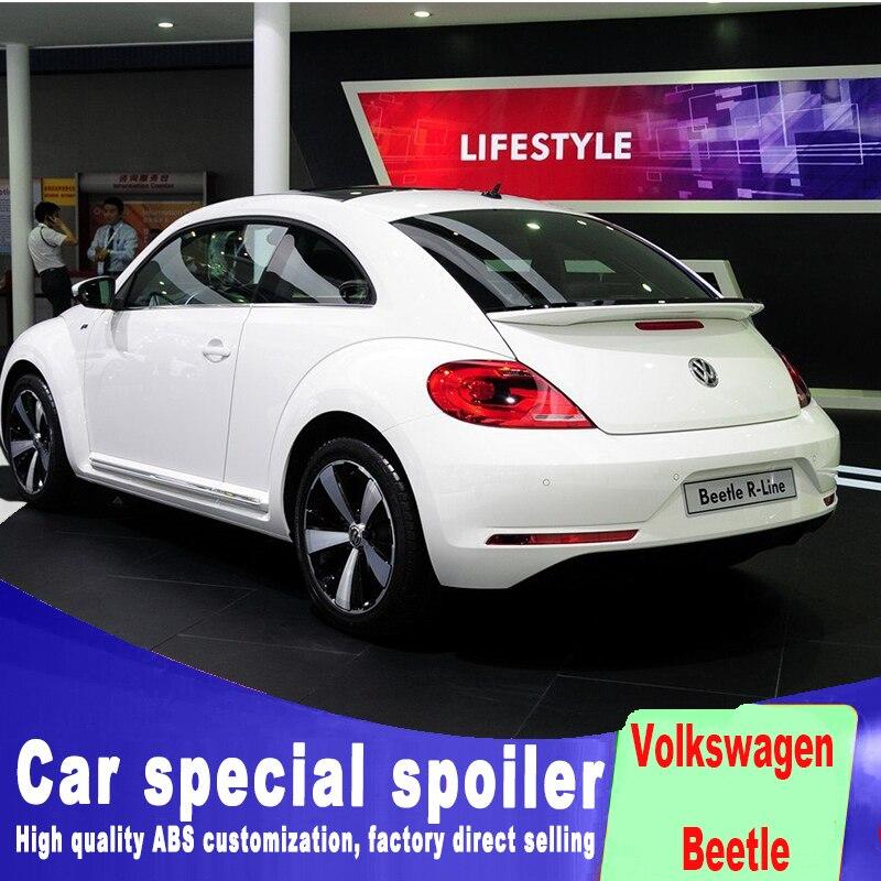 Apprêt ou couleurs blanches noires peintes nouveau design ABS 2013 à 2018 jusqu'à l'an aileron de coffre arrière de voiture pour vw Volkswagen Beetle