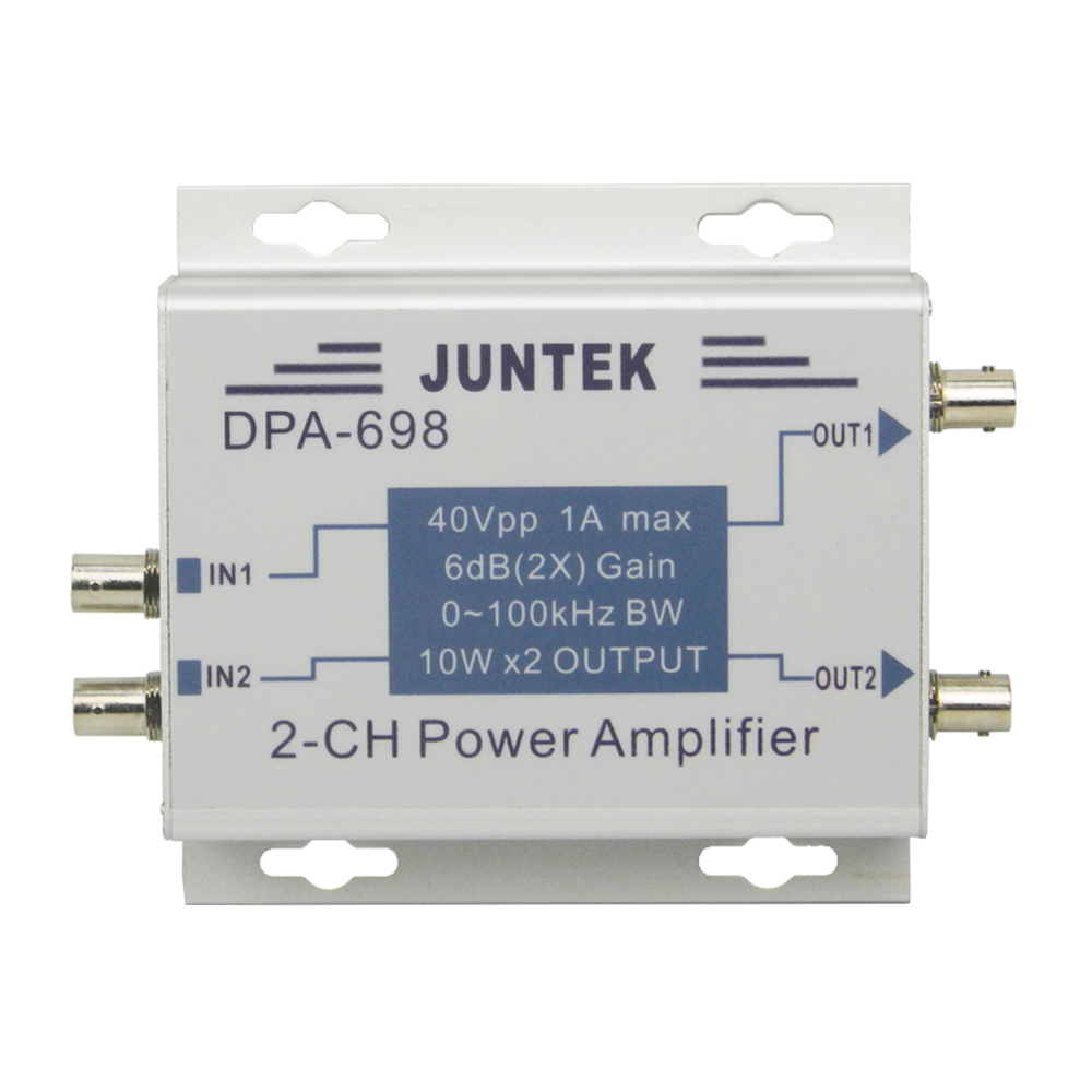DDS Function Signal Generator Power Amplifier DC Power Amplifier 40Vpp High Power Dual Channel DPA 698
