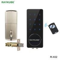 Raykube паролем сенсорной клавиатурой электронный замок с Дистанционное управление разблокировки для Офис Блокировка доступа R X02