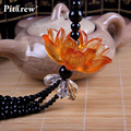 Luxury Replica Crystal Lotus Car Pendant Car Accessories Hanging Ornament For Car Rearview Mirror