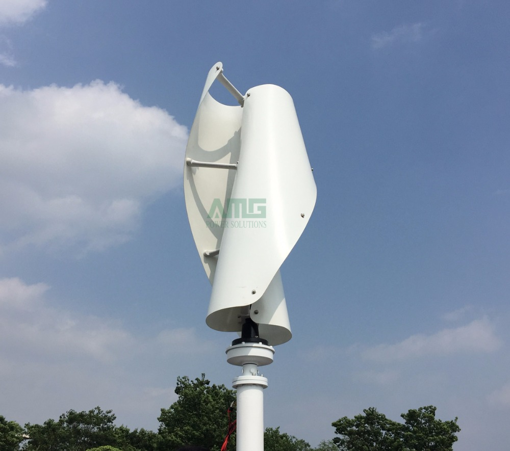 US $534 89 11% OFF|400W 500W 600W 12V 24V VAWT Helix Vertical Wind  Generator Turbine Residential Home use + QH 600W Waterproof Charger  Controller-in