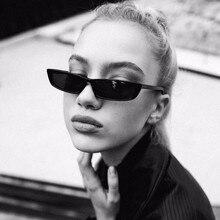 Vintage Rectangle Sunglasses Women Brand Designer Small Fram