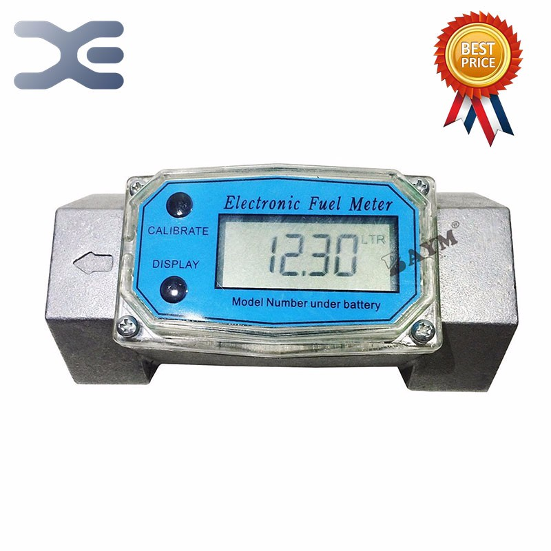 "1.5"" 38-380L/Min Oil Electronic Turbine Flowmeter Water Meter Kerosene Methanol Diesel Fuel <font><b>Flow</b></font> Digital Meter Oval Gear Gauge"