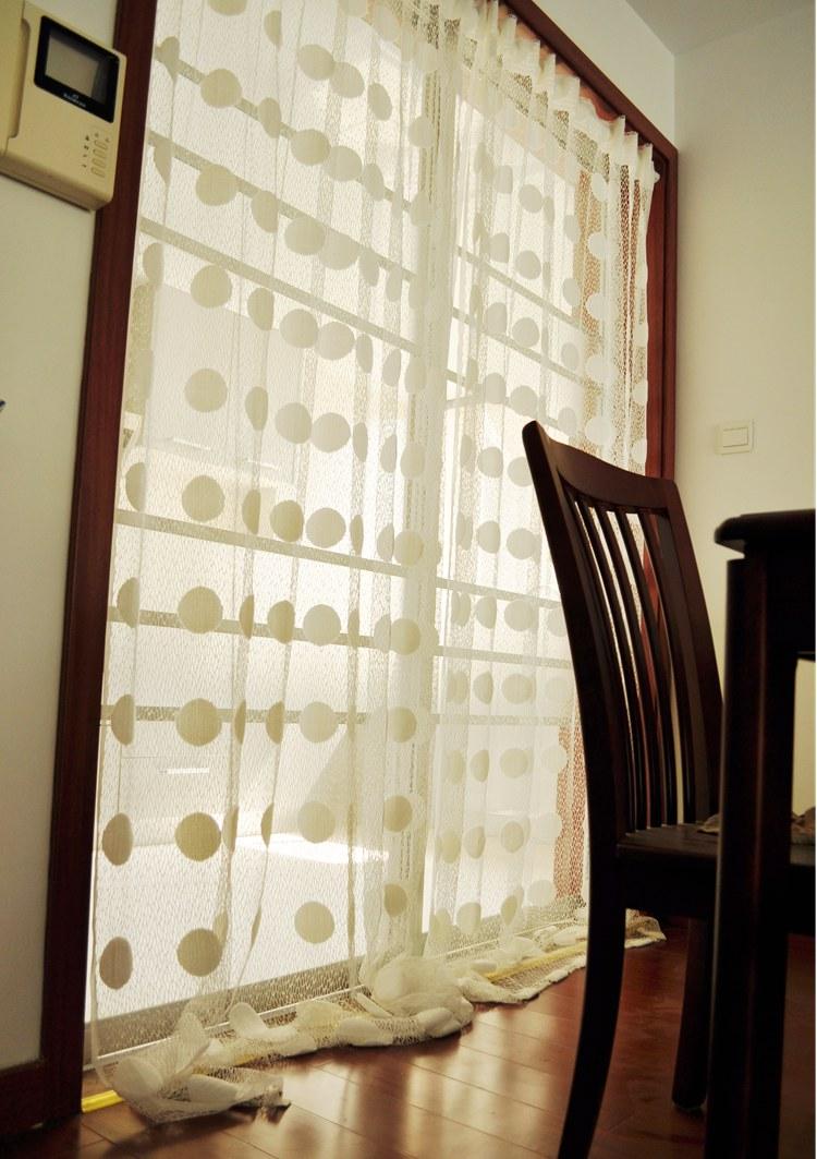 Living Room Curtain Panels Aliexpresscom Buy Ikea Transparent White Polka Dots Curtains