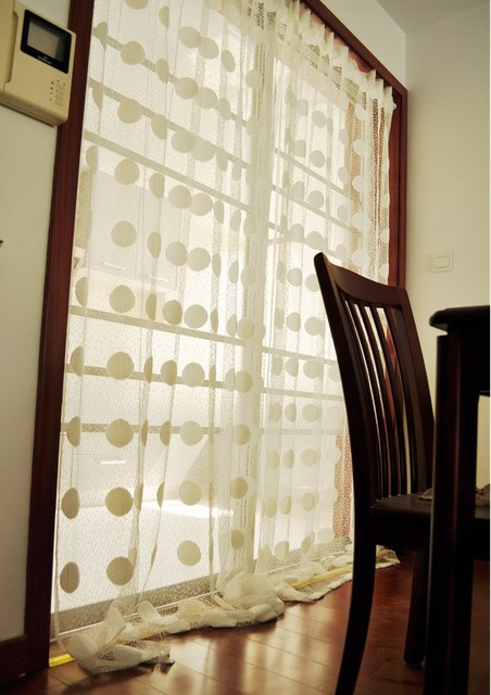 Ikea Transparent White Polka Dots Curtains For Living Room Bedroom Curtain  Panels Cute Curtain For Girls