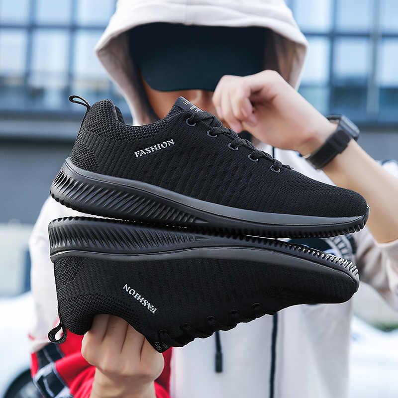 جديد شبكة الرجال حذاء كاجوال لاك متابعة حذاء رجالي خفيفة الوزن مريحة تنفس المشي أحذية رياضية Zapatillas Hombre