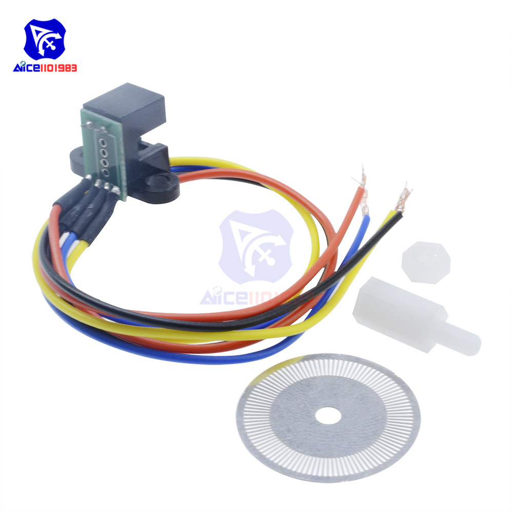 Image 3 - Photoelectric Speed Sensor Encoder Code Disc Disk Code Wheel for Freescale Smart Car 5V Laser Cutting Quadrature Signal Output-in Integrated Circuits from Electronic Components & Supplies