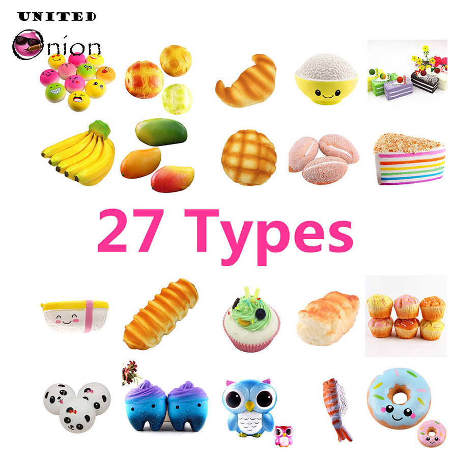 Mobile Phone Straps Kawaii Unicorn Seahorse Squishy Jumbo Slow Rising Toys Antistress Decorate Cake Squishies Food Squeeze Scented Gadget New Varieties Are Introduced One After Another