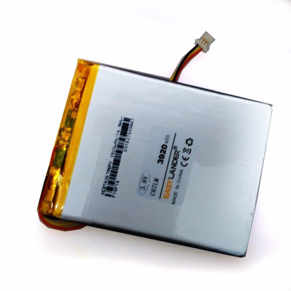 3.8V 3920mAh Rechargeable li Polymer Li-ion battery For ONYX BOOX DARWIN C67LM E-BOOK DVD цена