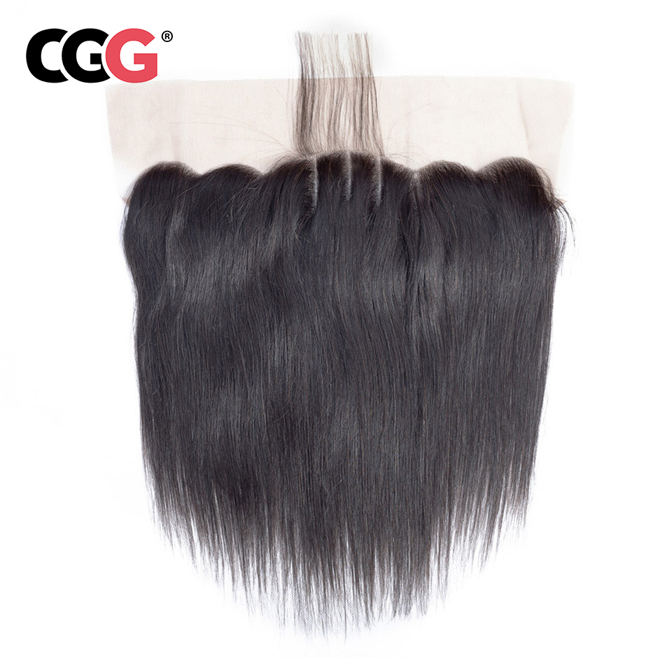 Cgg 13x4 Lace Frontal Body Wave Human Hair Peruvian Non-remy Human Hair Weaves Natural Color Sew In Hair Extensions 8-20 Inch Hair Extensions & Wigs Lace Wigs