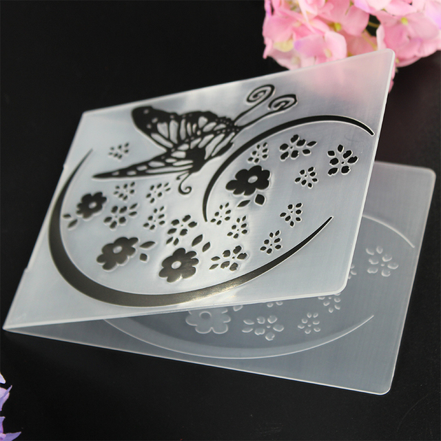 Embossing folder paper leather craft scrapbook diy flower butterfly embossing folder paper leather craft scrapbook diy flower butterfly photo card making tools plastic template stencils m4hsunfo Image collections