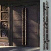 Китайская античная бамбуковая стеклянная дверь из нержавеющей стали дверная ручка деревянная дверная ручка Европейская современная роско