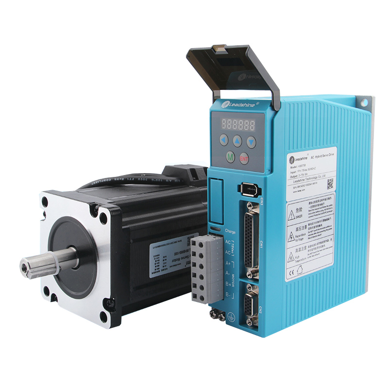 Leadshine Servo Drive HBS758 + 86HBM80-1000 Stepper Servo Motor with 8M Coding Line 32bit DSP closed-loop Engraver Accessories nema23 3phase closed loop motor hybrid servo drive hbs507 leadshine 18 50vdc new original