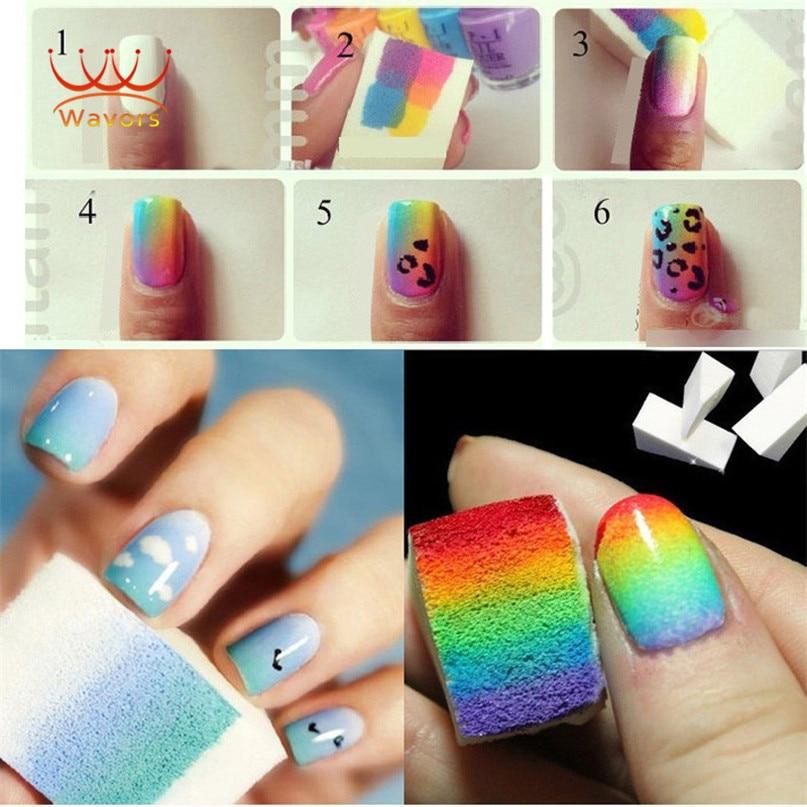New Grant Nails Soft Sponges For Color Fade Manicure 16pcs Lot Diy Creative Nail Art Accessory Tools
