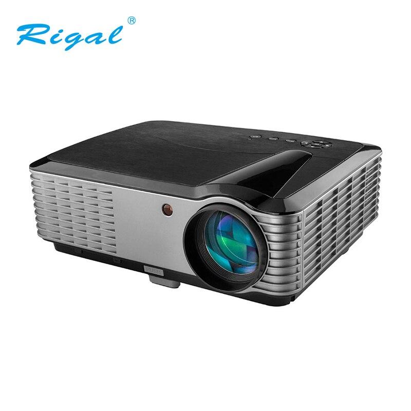 Видеопроектор Rigal с разрешением Full HD 1920*1200 для домашнего кинотеатра, офиса 4000 люмен, проектор для домашнего кинотеатра 3D