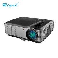Rigal видео проектор с разрешением Full HD 1920*1200 Разрешение для дома кинематографический офисные 4000 люмен проектор домашнего кинотеатра 3D