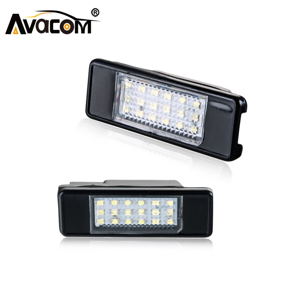 Knowledgeable Avacom 2 Pcs Led Car License Plate Lights 12v 6500k White Auto Lamp For Peugeot 307/308/106/207 Citroen Hatchback C2/c3/c4/c5 Selected Material Automobiles & Motorcycles